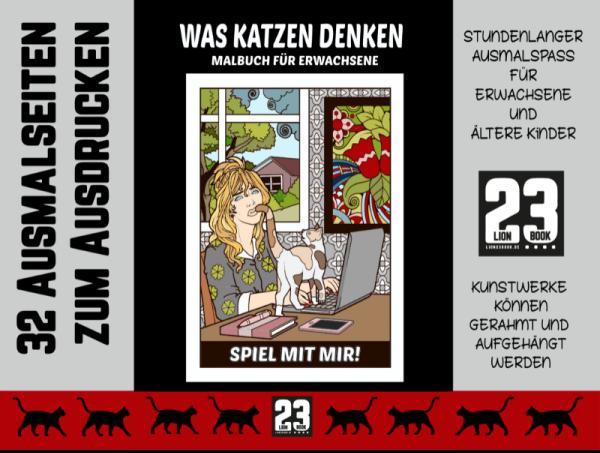 Katzen-Malbuch für Erwachsene von Petra A. Bauer