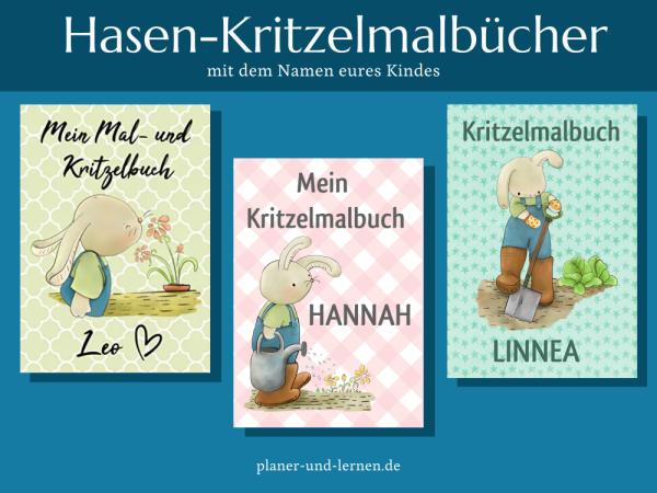 Personalisierte Hasen-Kritzelmalbücher von Petra A. Bauer