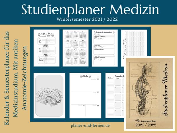 Studienplaner Medizin. WS21/22. Vintage edition.